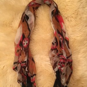 Colorful Aztec patterned lightweight scarf